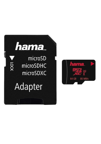 Hama microSDXC 64 GB UHS Speed Class 3 UHS-I 80 MB/s + Adapter kaufen