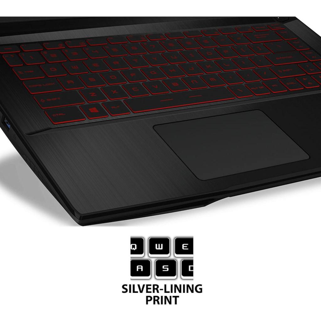 "MSI Gaming-Notebook »GF63 Thin 10SC-233«, (39,6 cm/15,6 "" Intel Core i5 GeForce GTX 1650\r\n 512 GB SSD), Kostenloses Upgrade auf Windows 11, sobald verfügbar"