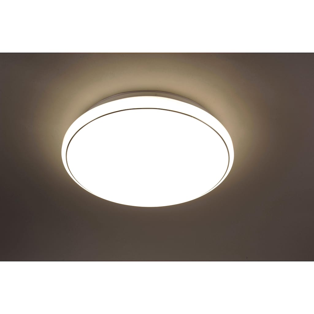 Leuchten Direkt Deckenleuchte »JUPITER«, LED-Board, 1 St., Warmweiß-Neutralweiß-Tageslichtweiß, CCT - Farbtemperaturregelung (verstellbar von 3000-5000K)|Dimmbar über Fernbedienung|Serienschalter|Memoryfunktion, Ø 59 cm
