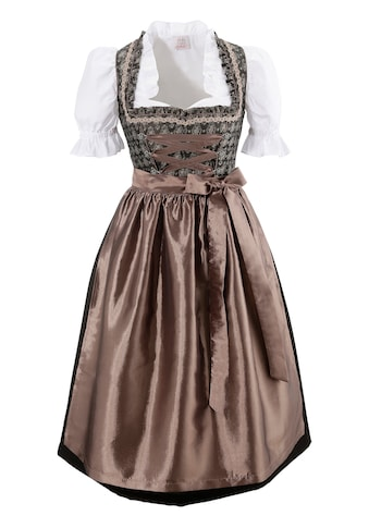 Dirndl 3tlg. in edel changierender Optik kaufen