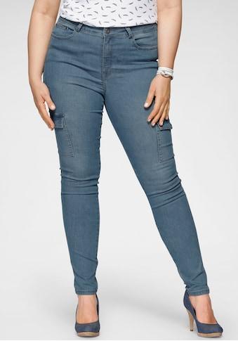Arizona Skinny-fit-Jeans »Ultra Stretch«, High Waist mit Cargotaschen kaufen