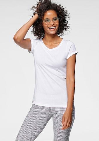 KangaROOS T-Shirt, mit süßem aufgekrempleten Ärmalsaum kaufen