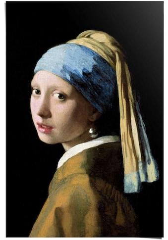 Reinders! Poster »Poster Das Mädchen mit dem Perlenohrgehänge Jan Vermeer - Alte... kaufen