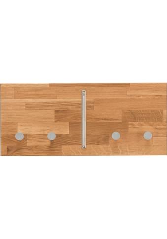 Home affaire Hakenleiste »Dura«, aus schönem massivem Wildeichenholz, Breite 50 cm kaufen