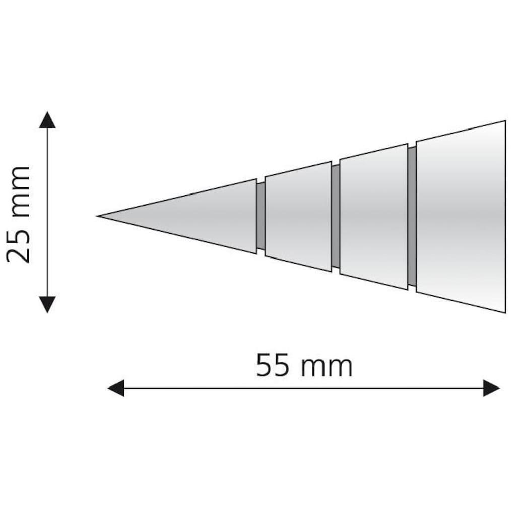 Liedeco Gardinenstangen-Endstück »Kegel mit Rille«, für Gardinenstangen Ø 16 mm