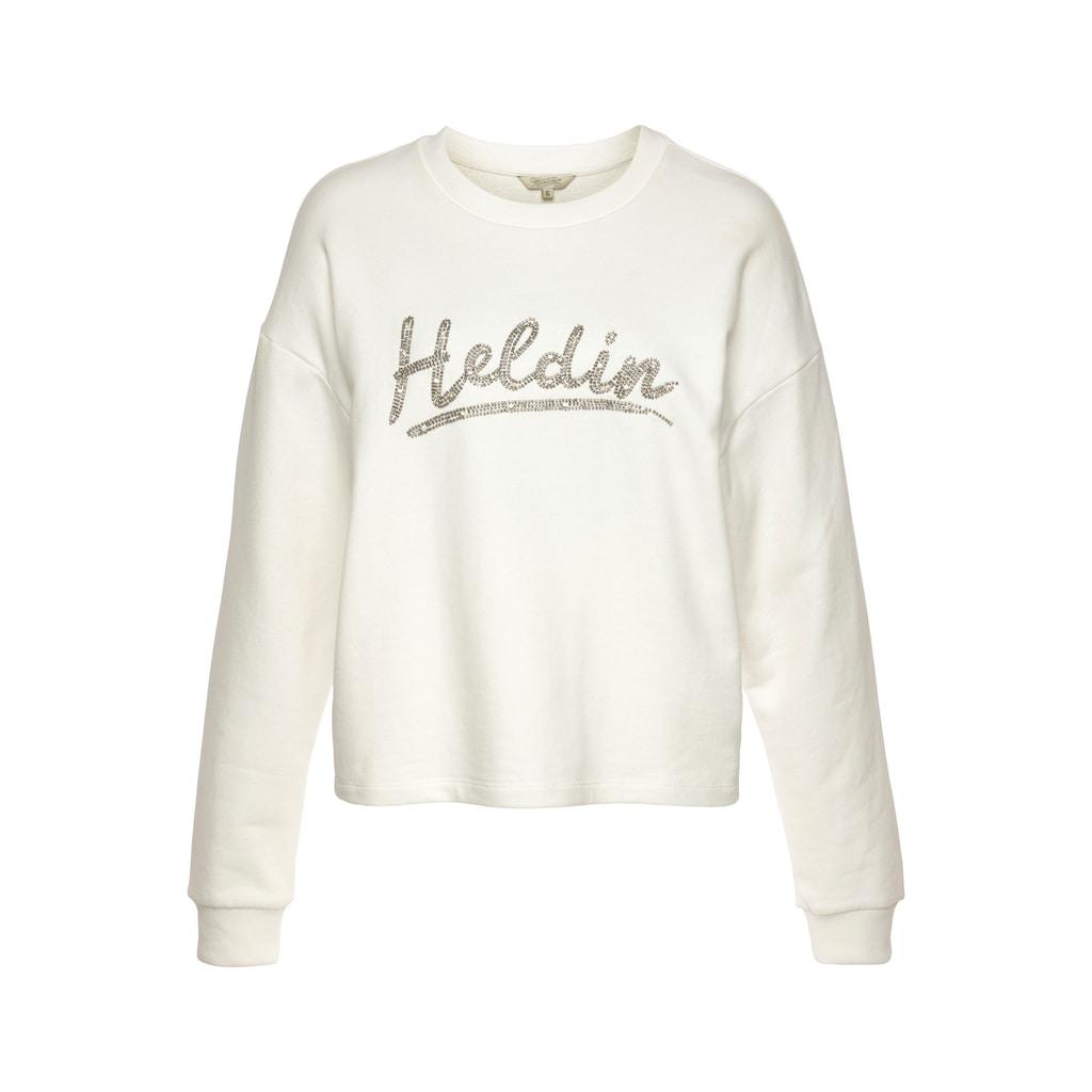 Herrlicher Sweatshirt »GLENNIE«, mit Herrlicher Logo-Statement-Print