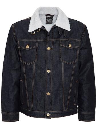 KingKerosin Jeansjacke »Motor City«, mit Teddyfell gepatcht kaufen