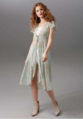 Aniston CASUAL Chiffonbluse, hinten länger geschnitten kaufen