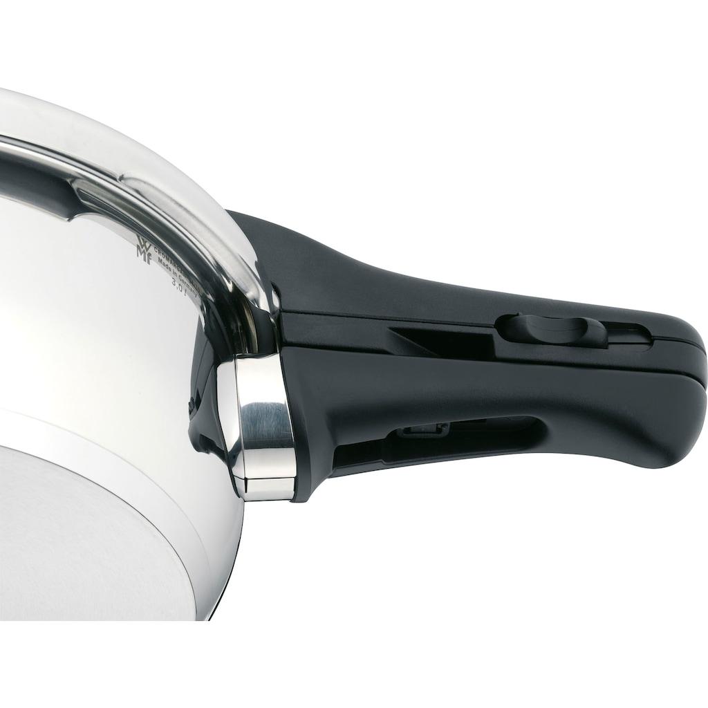 WMF Schnellkochtopf »Perfect Plus«, Cromargan® Edelstahl Rostfrei 18/10, (3 tlg.), mit abnehmbarem Griff und Einsatz, Induktion