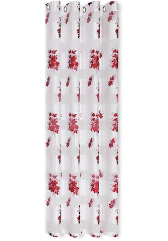 Linne Vorhang »Alma«, Floral bedruckter Ösenschal kaufen