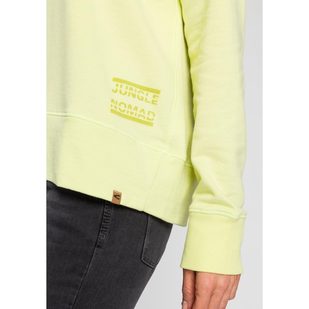 camel active Sweatshirt, Kapuze mit innenliegendem Band in Streifen-Optik