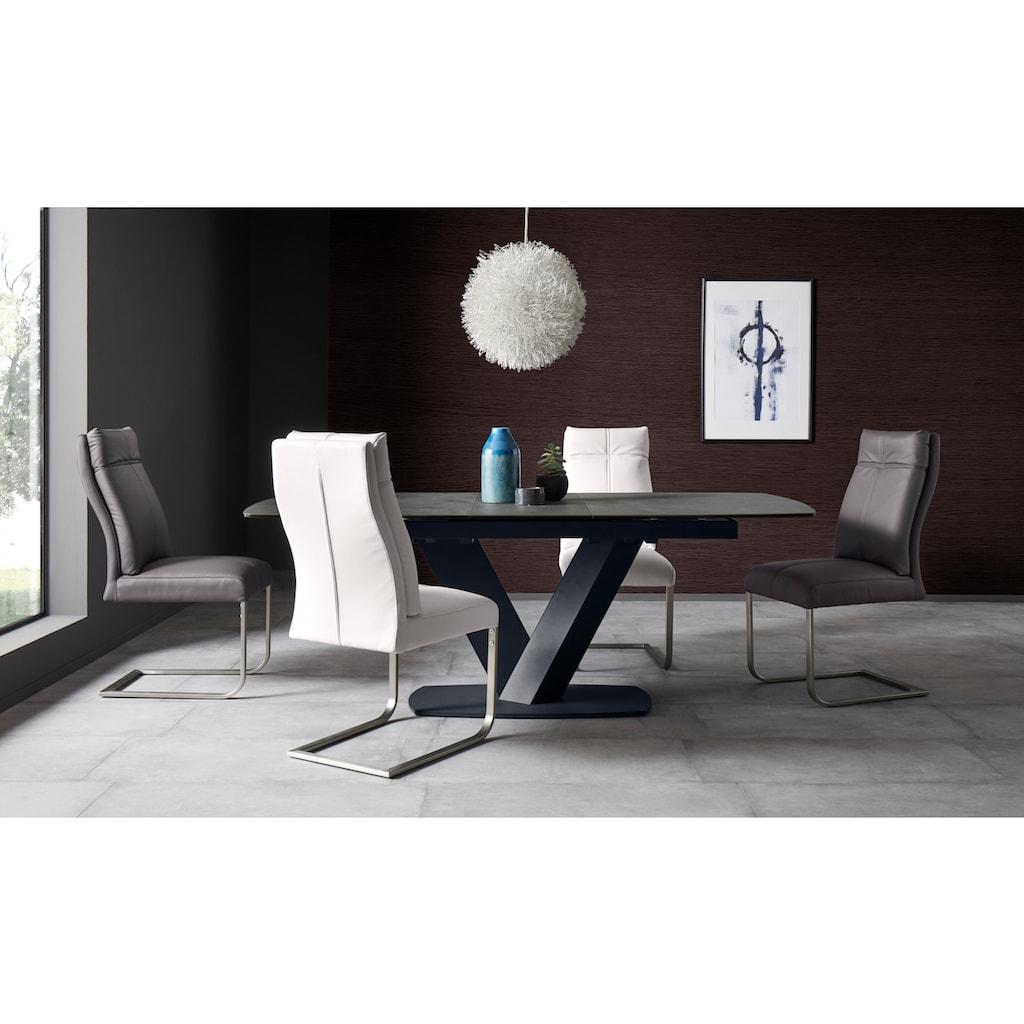 Places of Style Esszimmerstuhl »Luanda«, 2er-Set, in zwei verschiedenen Bezugsvarianten, Sitzhöhe 49 cm