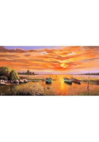 Home affaire Kunstdruck »ADRIANO GALASSO / Laguna al tramonto«, (1 St.) kaufen