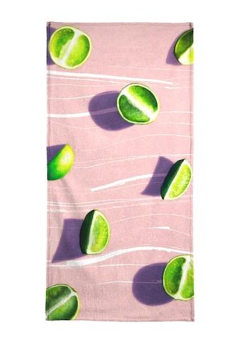 Juniqe Strandtuch »Fruit 10«, (1 St.), Weiche Frottee-Veloursqualität kaufen