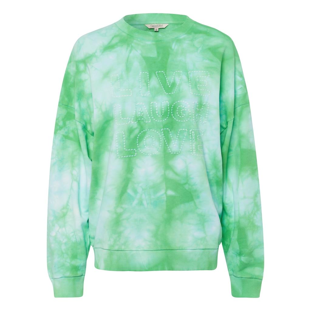 Herrlicher Sweatshirt »CALIXTA«, mit Batik-Muster