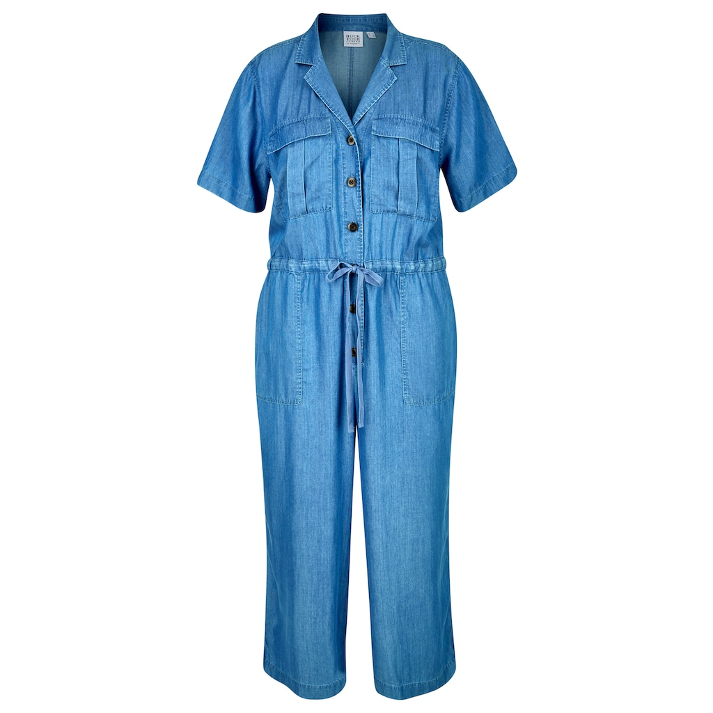 Rock Your Curves by Angelina K. Jumpsuit, im Utility-Style