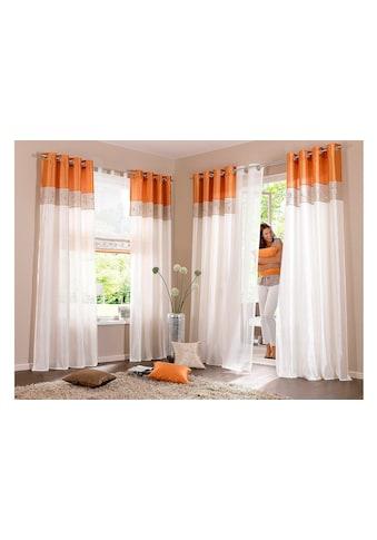 my home Vorhang »Sorel«, Gardine, Fertiggardine, halbtransparent kaufen