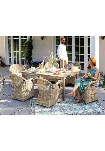 KONIFERA Gartenmöbelset »Sumatra«, (13 tlg.), 6 Sessel, Tisch 180x100 cm, Rattan,... kaufen