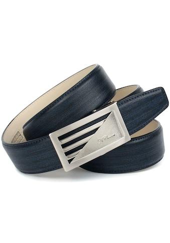 Anthoni Crown Ledergürtel, mit Designmuster kaufen