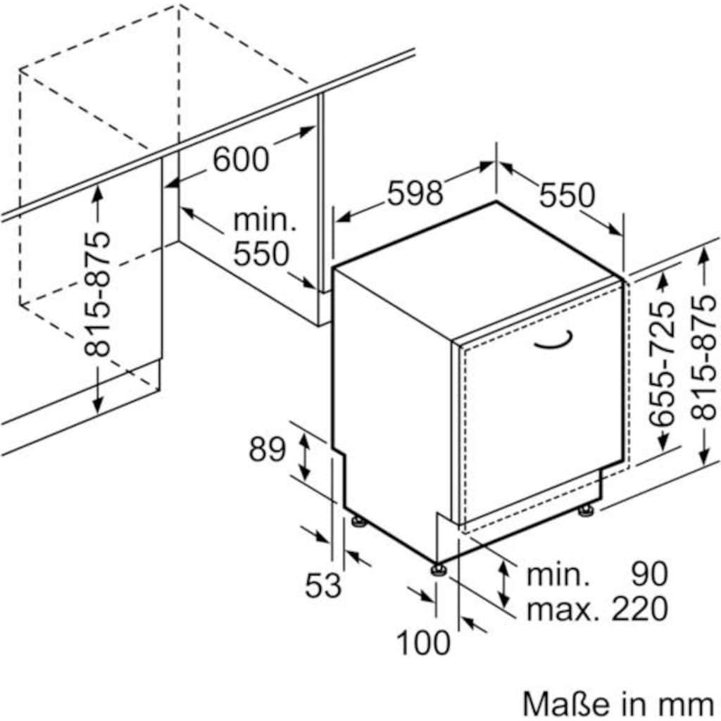 SIEMENS vollintegrierbarer Geschirrspüler »iQ300 SN636X00EE«, iQ300, SN636X00EE, 13 Maßgedecke