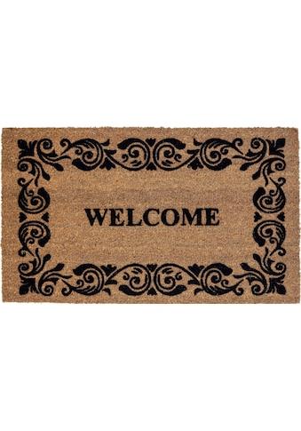 ASTRA Fußmatte »Coco Welcome«, rechteckig, 14 mm Höhe, Fussabstreifer, Fussabtreter, Schmutzfangläufer, Schmutzfangmatte, Schmutzfangteppich, Schmutzmatte, Türmatte, Türvorleger, Kokosmatte mit Spruch kaufen