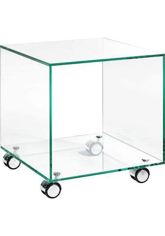 Places of Style Beistelltisch »Glarus«, aus Floatglas, Rollwagen, Servierwagen kaufen