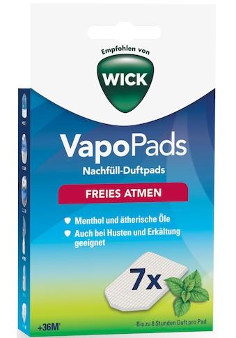 WICK Inhalations-Zusatz »WBR7V1 VapoPads Menthol«, (Packung, 7 tlg.), Duftpads mit... kaufen
