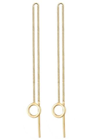 Elli Paar Ohrhänger »Ohrringe Basic Durchzieher Kreis Rund Minimal 0304152420,... kaufen