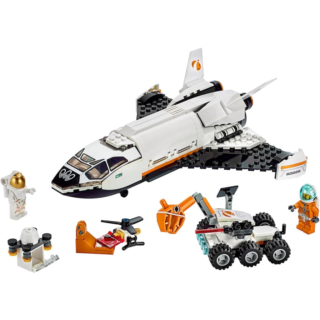 LEGO® Konstruktionsspielsteine »Mars-Forschungsshuttle (60226), LEGO® City Space Port«, (273 St.), Made in Europe