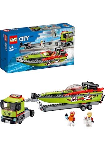 LEGO® Konstruktionsspielsteine »Rennboot-Transporter (60254), LEGO® City Great... kaufen
