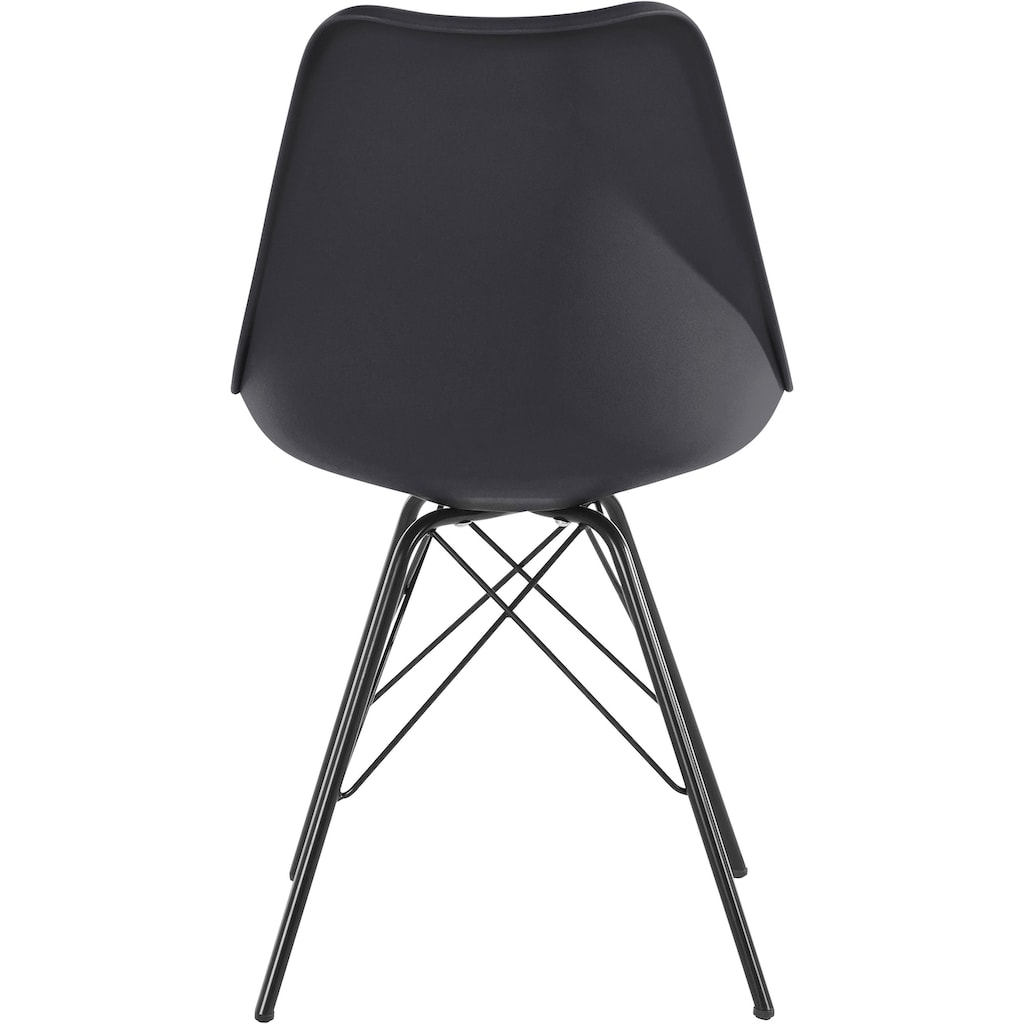 Homexperts Esszimmerstuhl »Ursel 01«, Sitzschale mit Sitzkissen in Kunstleder