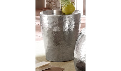 Home affaire Beistelltisch »Alui«, aus schönem Aluminium in Hammerschlag-Optik, Höhe... kaufen