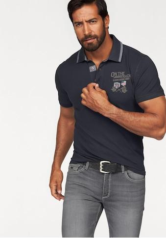 Arizona Poloshirt, in Piqué-Qualität und Bruststickerei kaufen
