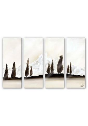 Wall-Art Mehrteilige Bilder »Meditative Ruhe (4-teilig)«, (Set, 4 St.) kaufen