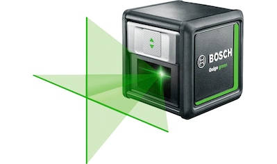 BOSCH Kreuzlinienlaser »Quigo green«, Max. Reichweite: 12m, inkl. 2x 1,5 V Batterien (AAA) kaufen