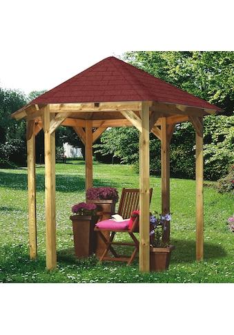 Karibu Holzpavillon »Lissabon«, BxT: 299x260 cm, inkl. Dachschindeln und Pfostenanker kaufen