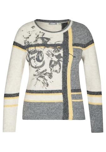 Rabe Rundhalspullover, mit grafischem Muster und Glitzersteinen kaufen