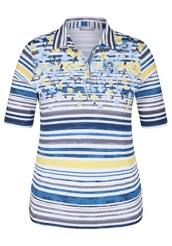 Rabe Polo - Shirt mit Allover - Ringeln und Blumendetails kaufen