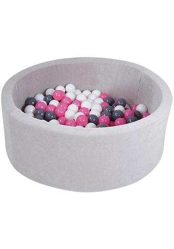 Knorrtoys® Bällebad »Soft, Grey«, mit 300 Bällen creme/grey/rose; Made in Europe kaufen