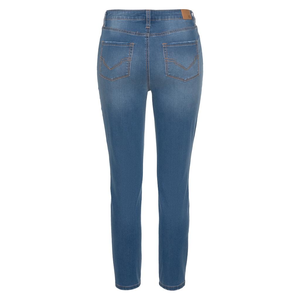 H.I.S 7/8-Jeans »Skinny BUTTON FLY«, Nachhaltige, wassersparende Produktion durch OZON WASH