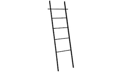 WENKO Handtuchleiter »Loft«, Bambus, schwarz lackiert kaufen
