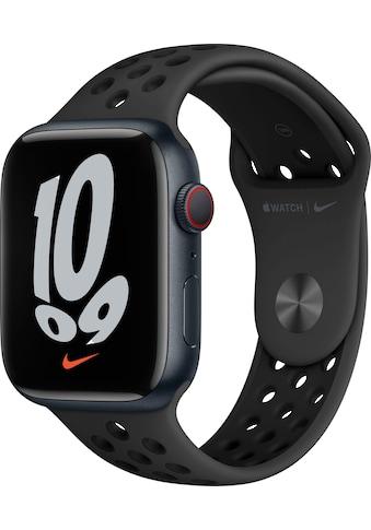 Apple Smartwatch »Nike Series 7, GPS + Cellular, Aluminium-Gehäuse, 45mm«, (Watch OS 8) kaufen