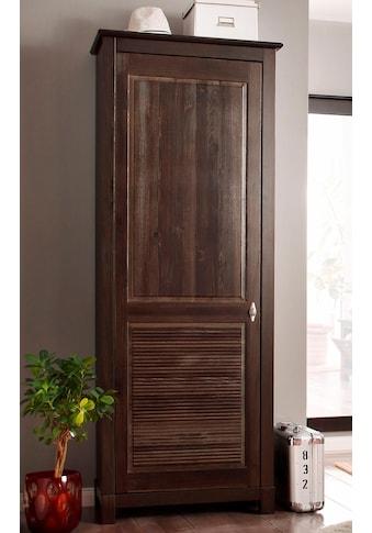 Home affaire Garderobenschrank »Rauna«, 1-türig, Breite 77 cm, aus massiver Kiefer kaufen