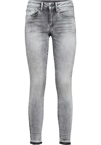 G-Star RAW Ankle-Jeans »3301 Mid Skinny RP Ankle Jeans«, mit leicht ausgefranster... kaufen