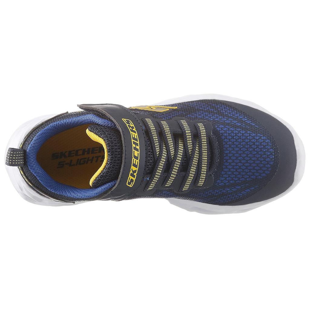 Skechers Kids Sneaker »Blinkschuh Sneaker Vortex-Flash«, mit Klettverschluss