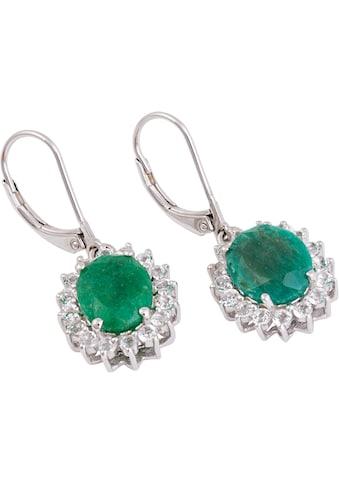 Firetti Paar Ohrhänger, mit Smaragd (beh.) und Topas kaufen