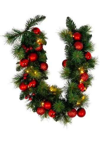 näve LED-Lichterkette »LED-Weihnachtslichterkette mit Dekoration l: 100cm - rot«, 20 St.-flammig, Timer kaufen