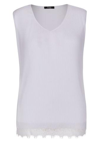 FRAPP Zarte Plissee-Bluse mit Spitze kaufen