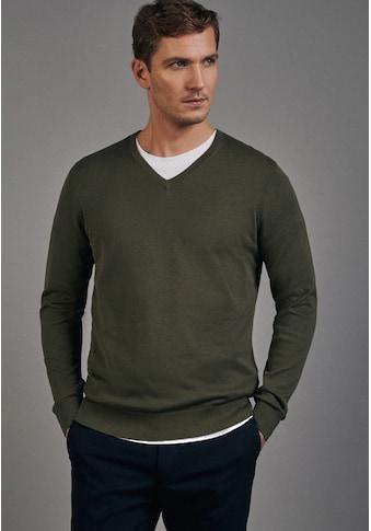 seidensticker V-Ausschnitt-Pullover »Schwarze Rose«, Langarm V-Neck Uni kaufen