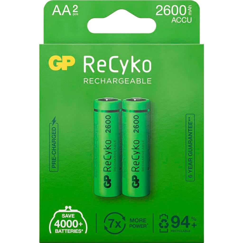 GP Batteries Akku »AA Akku GP NiMH 2600 mAh ReCyko 1,2V 2 Stück«, AA, 2600 mAh